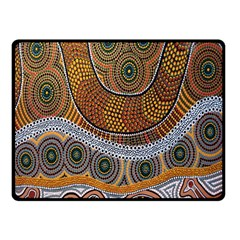 Aboriginal Traditional Pattern Double Sided Fleece Blanket (Small)