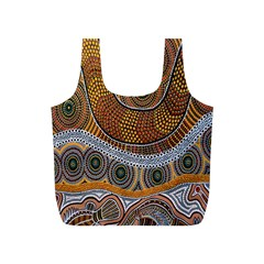 Aboriginal Traditional Pattern Full Print Recycle Bags (S)