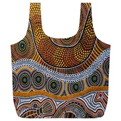 Aboriginal Traditional Pattern Full Print Recycle Bags (L)