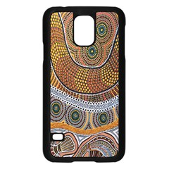 Aboriginal Traditional Pattern Samsung Galaxy S5 Case (Black)
