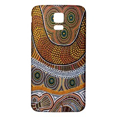 Aboriginal Traditional Pattern Samsung Galaxy S5 Back Case (White)