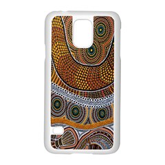 Aboriginal Traditional Pattern Samsung Galaxy S5 Case (White)