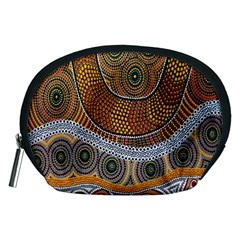 Aboriginal Traditional Pattern Accessory Pouches (Medium)