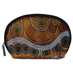 Aboriginal Traditional Pattern Accessory Pouches (Large)