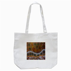 Aboriginal Traditional Pattern Tote Bag (White)