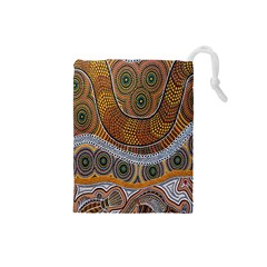 Aboriginal Traditional Pattern Drawstring Pouches (Small)