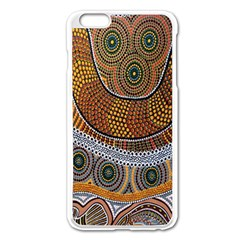 Aboriginal Traditional Pattern Apple iPhone 6 Plus/6S Plus Enamel White Case