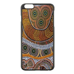 Aboriginal Traditional Pattern Apple iPhone 6 Plus/6S Plus Black Enamel Case