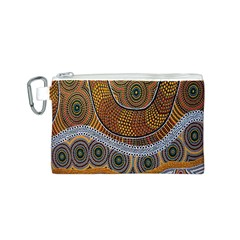 Aboriginal Traditional Pattern Canvas Cosmetic Bag (S)
