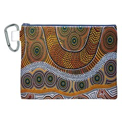 Aboriginal Traditional Pattern Canvas Cosmetic Bag (XXL)