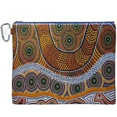 Aboriginal Traditional Pattern Canvas Cosmetic Bag (XXXL)