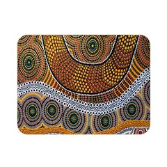 Aboriginal Traditional Pattern Double Sided Flano Blanket (Mini)