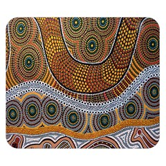 Aboriginal Traditional Pattern Double Sided Flano Blanket (Small)