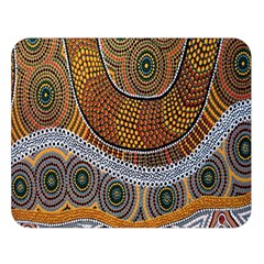 Aboriginal Traditional Pattern Double Sided Flano Blanket (Large)