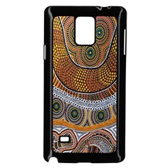 Aboriginal Traditional Pattern Samsung Galaxy Note 4 Case (Black)
