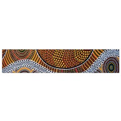 Aboriginal Traditional Pattern Flano Scarf (Small)