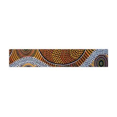Aboriginal Traditional Pattern Flano Scarf (Mini)