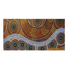 Aboriginal Traditional Pattern Satin Shawl