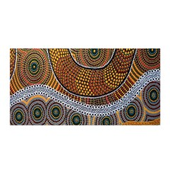 Aboriginal Traditional Pattern Satin Wrap