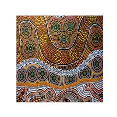 Aboriginal Traditional Pattern Small Satin Scarf (Square)