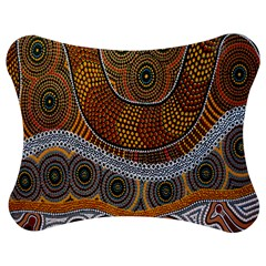 Aboriginal Traditional Pattern Jigsaw Puzzle Photo Stand (Bow)