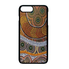 Aboriginal Traditional Pattern Apple iPhone 7 Plus Seamless Case (Black)