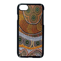 Aboriginal Traditional Pattern Apple iPhone 7 Seamless Case (Black)