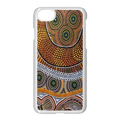 Aboriginal Traditional Pattern Apple iPhone 7 Seamless Case (White)