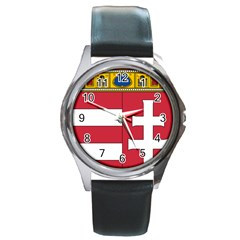 Coat of Arms of Hungary Round Metal Watch