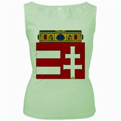 Coat of Arms of Hungary Women s Green Tank Top
