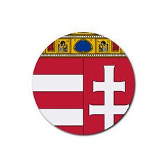 Coat of Arms of Hungary Rubber Round Coaster (4 pack)