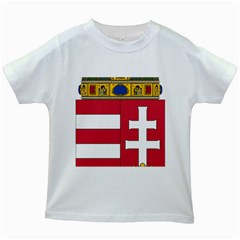 Coat of Arms of Hungary Kids White T-Shirts