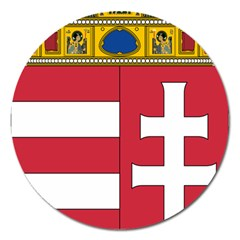 Coat of Arms of Hungary Magnet 5  (Round)
