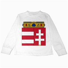 Coat of Arms of Hungary Kids Long Sleeve T-Shirts