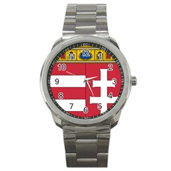 Coat of Arms of Hungary Sport Metal Watch