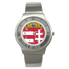 Coat of Arms of Hungary Stainless Steel Watch