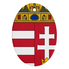 Coat of Arms of Hungary Oval Ornament (Two Sides)