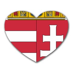 Coat of Arms of Hungary Heart Mousepads