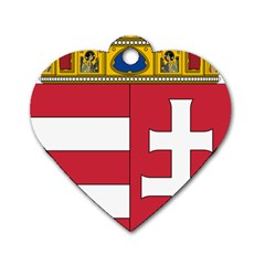 Coat of Arms of Hungary Dog Tag Heart (Two Sides)