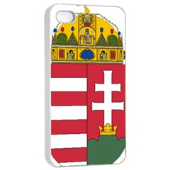 Coat of Arms of Hungary Apple iPhone 4/4s Seamless Case (White)