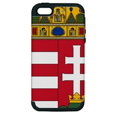 Coat of Arms of Hungary Apple iPhone 5 Hardshell Case (PC+Silicone)