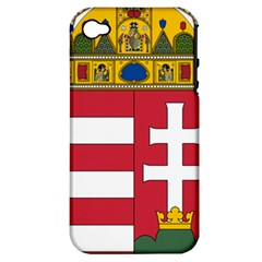 Coat of Arms of Hungary Apple iPhone 4/4S Hardshell Case (PC+Silicone)