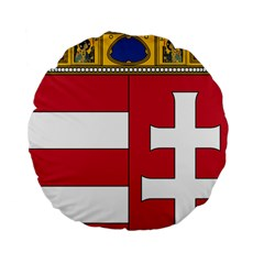 Coat of Arms of Hungary Standard 15  Premium Round Cushions