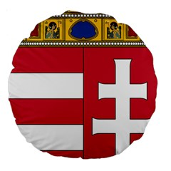 Coat of Arms of Hungary Large 18  Premium Round Cushions