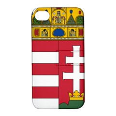 Coat Of Arms Of Hungary Apple Iphone 4/4s Hardshell Case With Stand