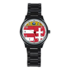Coat of Arms of Hungary Stainless Steel Round Watch
