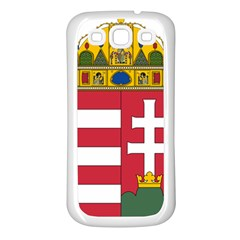 Coat of Arms of Hungary Samsung Galaxy S3 Back Case (White)