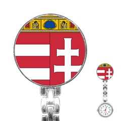 Coat of Arms of Hungary Stainless Steel Nurses Watch