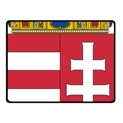 Coat of Arms of Hungary Double Sided Fleece Blanket (Small)