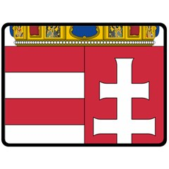 Coat of Arms of Hungary Double Sided Fleece Blanket (Large)